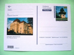 United Nations Vienna 2002 Unused Pre Paid Postcard - Clock Tower - Opera Graz - Wien - Internationales Zentrum