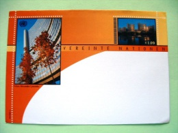 United Nations Vienna 2002 Unused Pre Paid Cover - UN Office - Lake - Trees - Wien - Internationales Zentrum