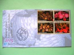 United Nations Vienna 2005 FDC Cover - Flowers Orchids (Scott 363a = 6 $) - Wien - Internationales Zentrum