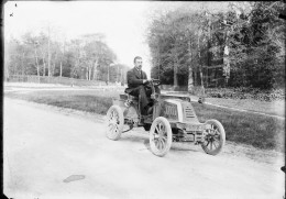 D-PN - 998 PLAQUE PHOTO ORIGINALE - AUTOMOBILE  ANCIENNE  DE DION BOUTON - Plaques De Verre
