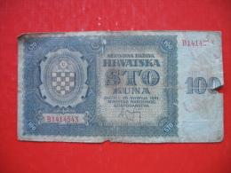 100 KUNA NDH - Croatie