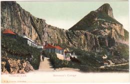 Gibraltar  - Governor's Cottage - (V.B. Cumbo, Gibraltar) - ( See 2 Scans) - Gibraltar