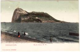 Gibraltar  - Rock From N.W.  - (V.B. Cumbo, Gibraltar) - ( See 2 Scans) - Gibraltar
