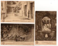 BELGIQUE. BRUXELLES. HÔTEL DE VILLE . 3 CARTES POSTALES . COUR INTÉR..., ESCALIER D´HON..., SALLE MAX... - Ref. N°7014 - - Monuments