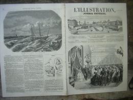 L�ILLUSTRATION 734 EMPEREUR RUSSIE/ ANGLAIS EN PERSE/ UZES/ GAVARNI/ LITS EN FER 21  mars 1857