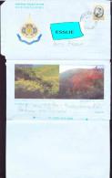Thailand Aerogramme To South Africa - 2001 - King Bhumibol Adulyadej, Flowers, - Thaïlande
