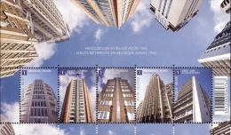Belg. 2010 - COB N° 183 ** - Hauts Bâtiments En Belgique Avant 1960 (4049 à 4053) - Blocks & Sheetlets 1962-....