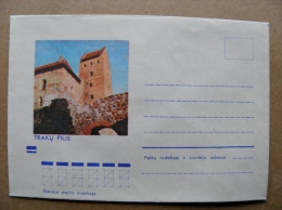 Cover From Lithuania, USSR Occupation Period, Musical Instrument 1973 835 Trakai Castle - Lituanie