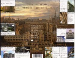 Belg. 2009 - COB N° 3941 à 3950 ** - Mont Des Arts à Bruxelles (bloc 171) - Unused Stamps