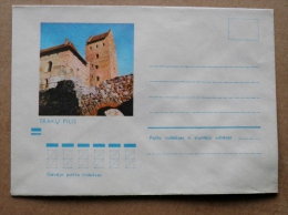 Cover From Lithuania, USSR Occupation Period, Musical Instrument 1973 882 Trakai Castle - Lituanie