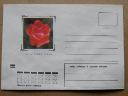 Cover From Lithuania, USSR Occupation Period, Musical Instrument 1973 887 Flowers Flora Rose - Lituanie