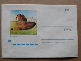 Cover From Lithuania, USSR Occupation Period, Musical Instrument 1974 894 Kaunas Castle - Lituanie