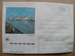 Cover From Lithuania, USSR Occupation Period, Musical Instrument 1974 913 Klaipeda Ships Port - Lituanie