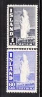 Iceland 1938-47 Geyser 2v MLH - 1918-1944 Administration Autonome