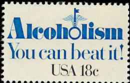 1981 USA Alcoholism Stamp #1927 Wine Health Medicine - Wines & Alcohols
