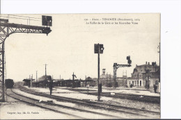 Chemin De Fer. Tergnier. Buffet De La Gare Et Nouvelles Voies. - Autres Communes