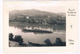 Ö-2163     LINZ : Frachter Auf Der Donau - Linz