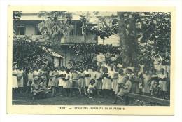TAHITI  PAPEETE ECOLE DE JEUNES FILLES POLYNESIE FRANCAISE - Polynésie Française