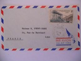 Nouvelle Caledonie Lettre De Noumea 29-5-56 Pour Lyon - Luftpost