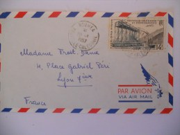 Nouvelle Caledonie Lettre De Noumea 20-9-57 Pour Lyon - Briefe U. Dokumente