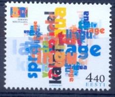 EE 2001-396 EU YEAR OF LANGUEGE, ESTONIA, 1 X 1v, MNH - Estland