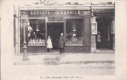PARIS XVII� Rue GUERSANT RARE Photo devanture  SOCIETE OENOPHILE Amateurs de VIN et PHOTOS  Photographie Mondaine 1909