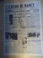 Journal l'Echo de Nancy 12 Janvier 1942 Prise de Kuala Lumpur Avions Sovi�tiques