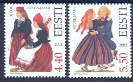 EE 2002-448-9 COSTUMES, ESTONIA, 1 X 2v, MNH - Estland