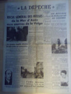 Journal La Depeche du Centre 10 Octobre 1941 Russes Mer d'Azov Roosevelt
