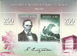 EE 2003-476-7 200AREINHOLD KREUTZALD, ESTONIA, S/S, MNH - Estland