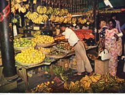 Ile Maurice.. Maurice.. Mauritius.. Port-Louis.. Animée.. Belle Vue Du Marché.. Fruits.. Bananes - Mauritius