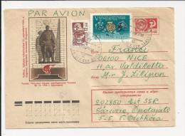 Lettre Entier Postal De Russie De 1977 - YT N° 3166 Et 4117 - Hockey Sur Glace - Ski - Tallinn - Lettres & Documents
