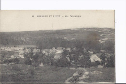 1 Cpa Beaulne Et Chivy. Vue Panoramique. - Altri Comuni