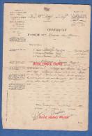Certificat De Blessure De Guerre - Poilu Francois THEVENON , Musicien Au 82e Régiment - Blessé Au Ravin Du Bazil Verdun - 1914-18