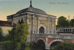 VENETO-TREVISO PORTA MAZZINI VEDUTA TRAM SUL PONTE - Treviso
