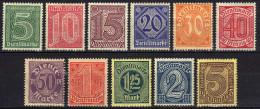 DR Dienstmarken 1920, Mi D 23-33 * [310814L] - Dienstzegels