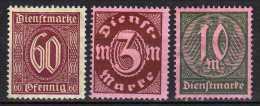 DR Dienstmarken 1922, Mi D 66-68 * [310814L] - Dienstzegels
