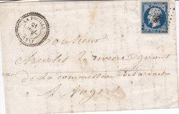 Seine Inferieure, LA BOUILLE,  Cachet 22 Perlé, Pc 450,  Lettre Avec En Tête - Marcophilie (Lettres)