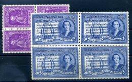 CONGO BELGE 1956 N� 339/340 NEUFS BLOCS DE 4