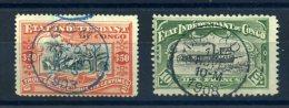 CONGO BELGE 1900 N� 27/ 29 OBLITERES