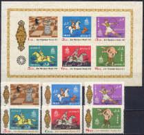 Iran 1972 Michel 1586-1591, Block 12, Olympic Games Munich, Equestrian, Chess Etc. Set Of 6 + S/s MNH - Verano 1972: Munich