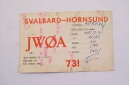 QSL,RADIO AMATEUR CARD-SVALBARD,HORNSUND - Radio Amateur