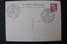 France - Congrés National De Philatélie 1947 - Entier Postal 3F50 Marianne De Gandon - Postal Stamped Stationery