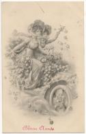 Illustrateur. Kranzle. Wien. Femmes & Automobile. Roses. Bonne Année. - Kraenzle