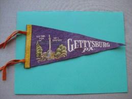 """Fanion Ancien USA  """"Gettysburg PA """" Années 1940 - Patches"""