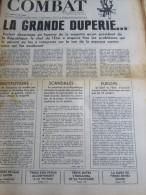 COMBAT N�8764 du 22/09/72 : la grande duperie / scandales (G. Aranda ...)