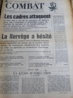 COMBAT N�8767 du 26/09/72 : les cadres attaquent / la Norv�ge & l' Europe