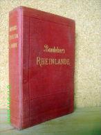"""Guide Baedeker """"RHEINLANDE"""" Schwarzwald Vogesen BAEDEKER Allemagne Germany Deutschland 1909 ! - Bade-Wurtemberg"""
