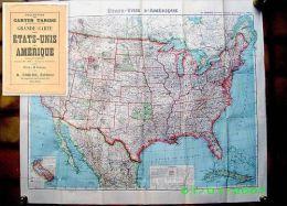 Carte ETATS UNIS AMERIQUE America United States Indian Map Amerika Indien USA Taride 1919 ! - Cartes Géographiques