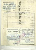 38 - Isère - ST-MARCELLIN - Facture COTTE & SABATIER - Manufacture De Galoches – 1944 - REF 6C - 1900 – 1949